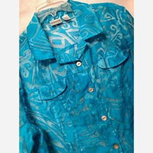 Chico's Jewel Blue Blouse